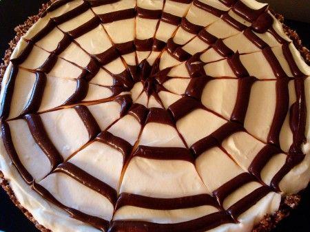 No-Bake Spiderweb Cheesecake: Desserts, No Baking Cheesecake, No ...