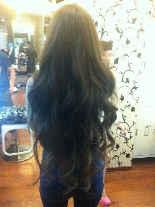 ❤ want my hair this long...