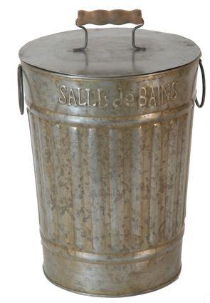 Мусорное ведерко для ванной комнаты (состаренный цинк) Цена - 2100 руб.