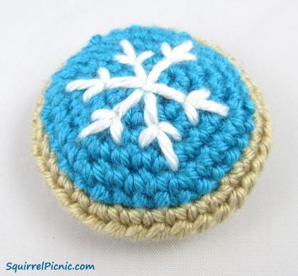 Fosco do floco de neve do biscoito de açúcar Pattern grátis