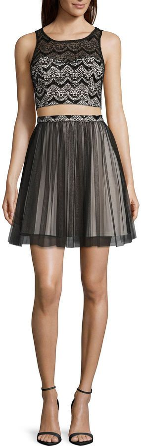 My Michelle 2-pc. Sleeveless Two-Tone Party Dress - Juniors