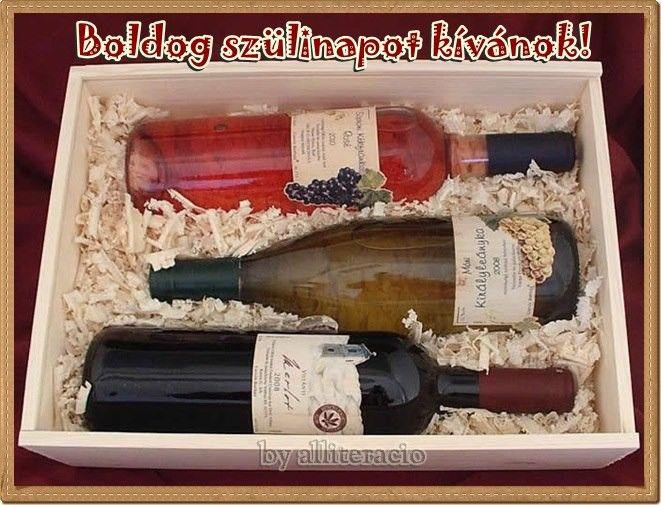 születésnap, képeslap, pasiknak, bor