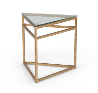 Chelsea House Triangular Table In Gold Leaf