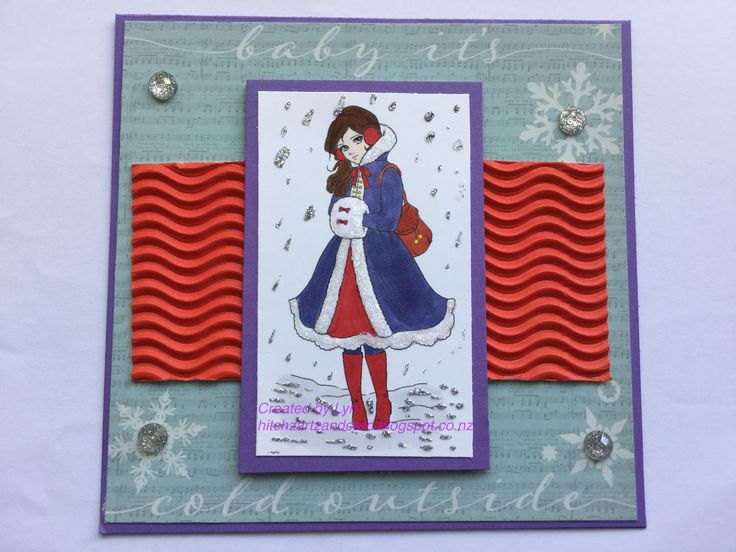 Lemon Shortbread - Winter Muff Girl DT card for latest challenge at The Crafty Addicts