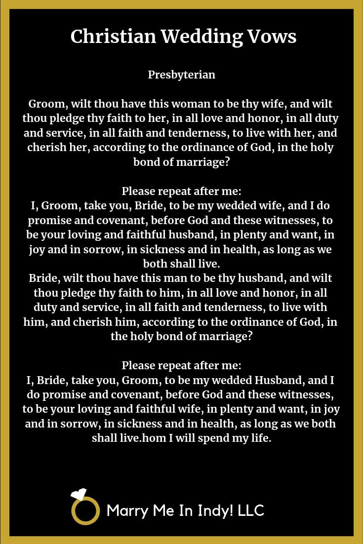 Christian Marriage Vow Ideas With PDF's WEDDING CEREMONY