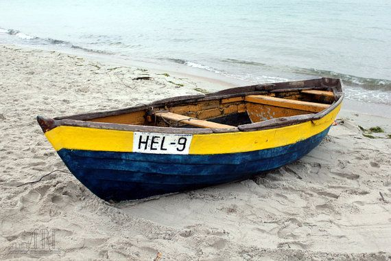 Nautical decor colorful dinghy boat at the by AnnaKiperPhoto, $15.00