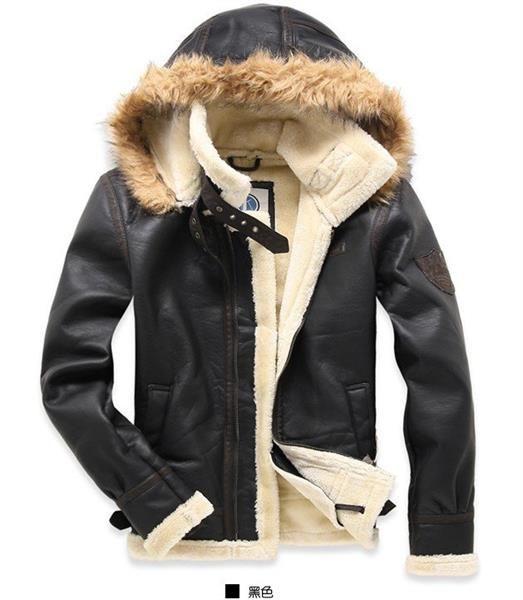 Куртка пилот мужская кожаная зимняя