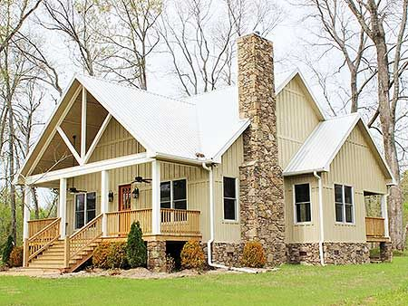 Rustic House Plan 68400VR has 3 master suites. Which one will you take? #houseplan just under 2,000 square feet #readywhenyouare