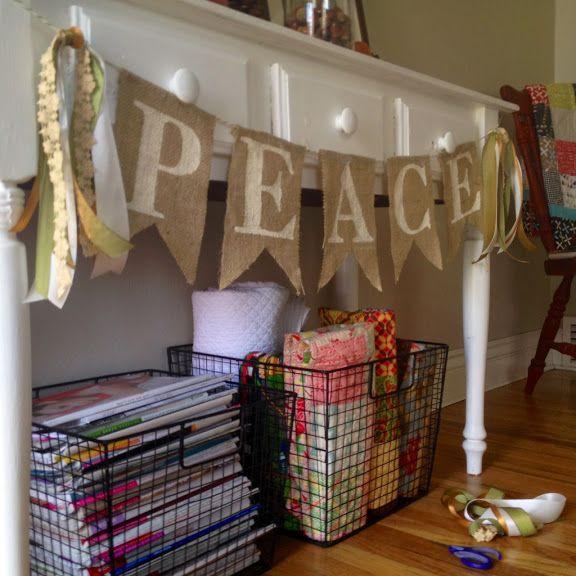 DIY Burlap Pennant Banner tutorial