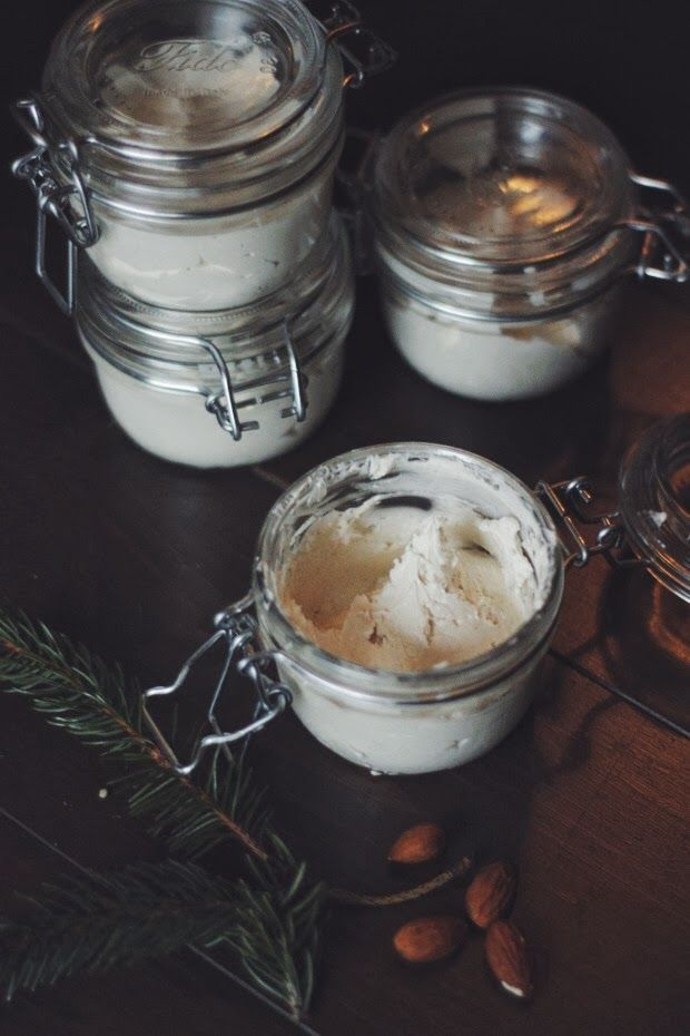 almond, spiced winter body butter (vegan).DIY natural homemade cosmetic
