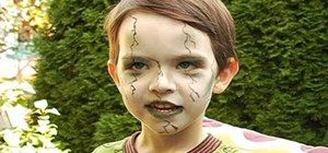 How to Create a scary green zombie look for a little kid for Halloween « Makeup