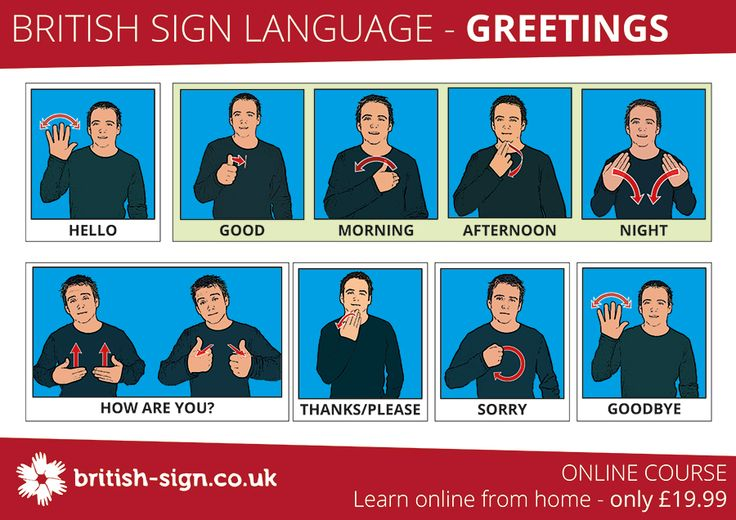 It is #DeafAwarenessWeek - how many of these British Sign Language signs can you use this week? - www.british-sign.co.uk