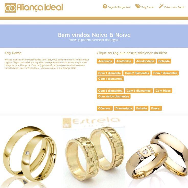 """Ainda não escolheu as """"Alianças"""" do seu casamento? A @estrelajoias criou um jogo via WebAPP direto no site deles que você descobre qual a sua aliança ideal através de um jogo divertido de perguntas e tags!!    Confira aqui: www.aliancaideal.com.br      Orçamentos @estrelajoias no Whats: (81)9.9827-2200 ou no #guiadefornecedores do blog direto EXCLUSIVO FORMULÁRIO DE PEDIDO DE ORÇAMENTO ONLINE VIA APP Noivas do Brasil  .  #noivasdobrasil #parceirosdoblog #noivas2016 #wedding #alianca…"""