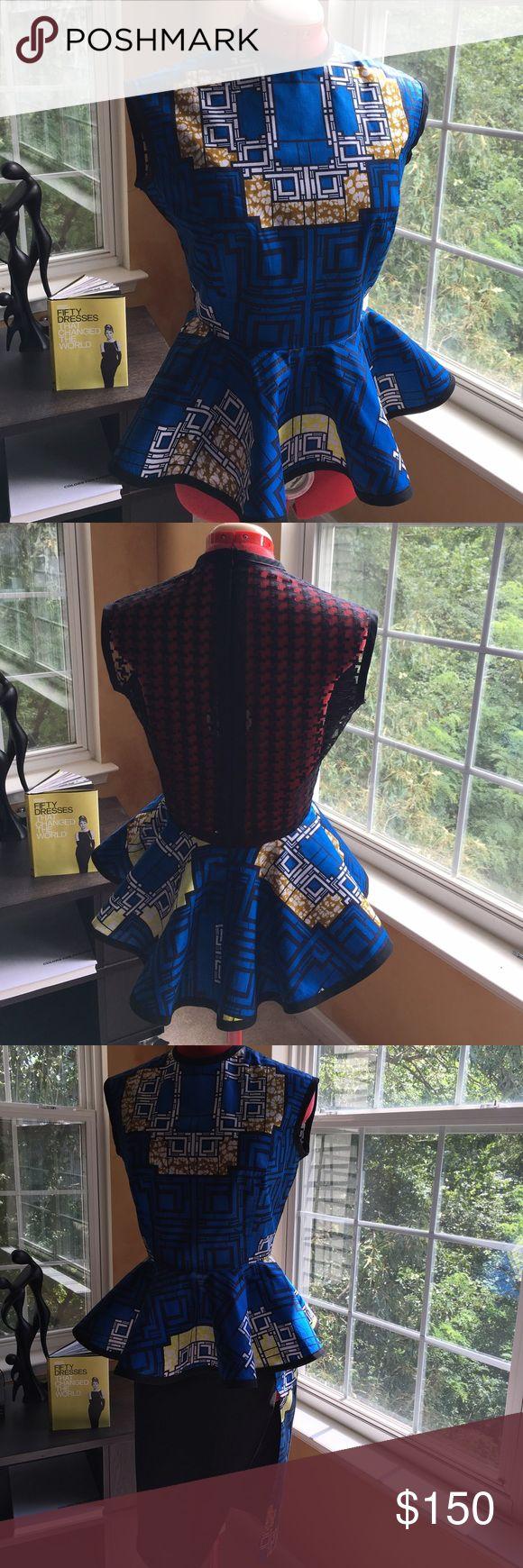 Ankara Two Piece Suit Ankara Cotton Peplum Top With Lace