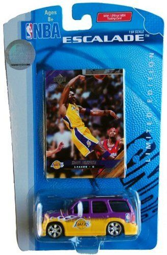 Lakers NBA Kobe Bryant Escalade 1:64 Scale Die Cast Collectible Car with Collectible Card by upper deck. $3.99. Collectible Kobe Bryant Upper Deck Card. 1:64 scale Laker's escalade. Lakers NBA Kobe Bryant Escalade 1:64 Scale Die Cast Collectible Car with Collectible Card