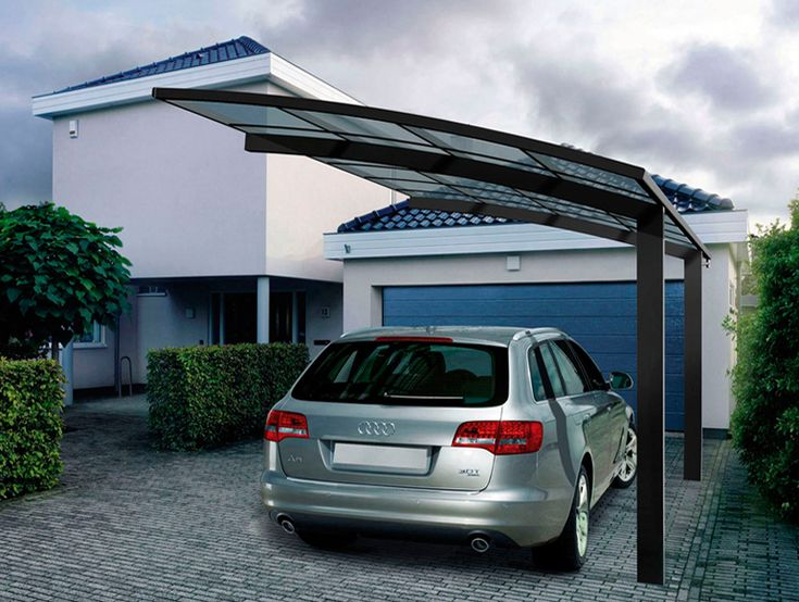 Strong and durable aluminum car parking shade Metal Frame Material and Garages Canopies & Carports Type Car Rain Shelter