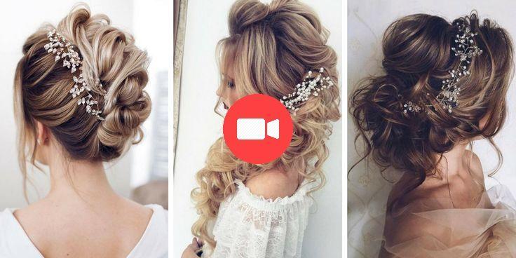 34 belles coiffures de mariée dans la tendance 2018