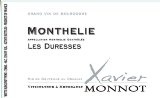 Domaine Xavier Monnot Monthelie Blanc Les Duresses 2005 - a wonderful, balanced, off-dry white Burgandy.  Purchased at Calvert Woodley Wineshop in DC