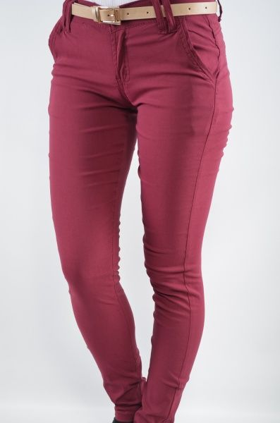 Pantaloni femei 413 Visiniu Haine ieftine, Articole ieftine femei, barbati si copii – KYK.ro