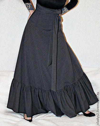 Юбки ручной работы. Ярмарка Мастеров - ручная работа длинная юбка с корсажным поясом -2. Handmade.