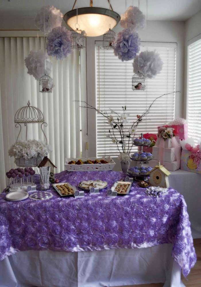 Lavender Baby Bird Shower Baby Shower Party Ideas | Photo 1 of 14 | Catch My Party