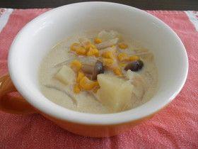 豆乳と生姜の野菜スープ