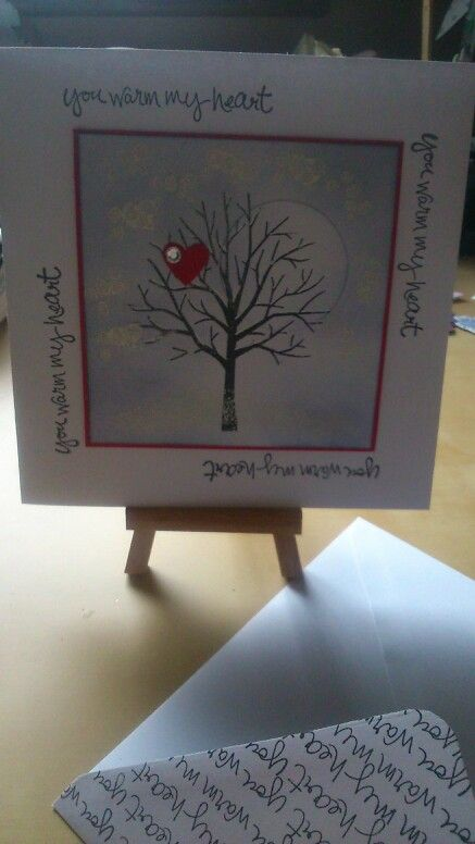 Card made using stampin up products