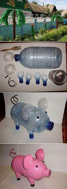 Поделки из пластиковых бутылок для декора дачи и сада: идеи, советы и 50 фото | Декор сада | DecorWind.ru