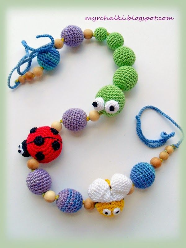 Crochet inspiration for nursing necklace