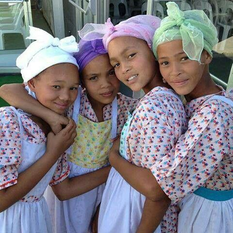 Young girls from Namaqualand
