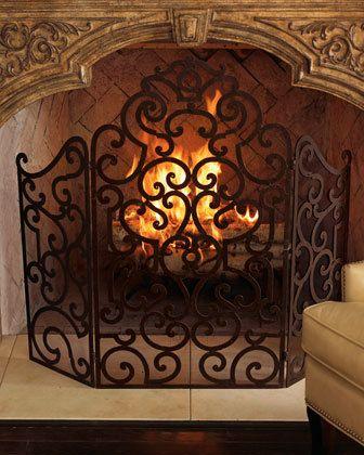 Top 25+ best Wrought iron fireplace screen ideas on Pinterest ...