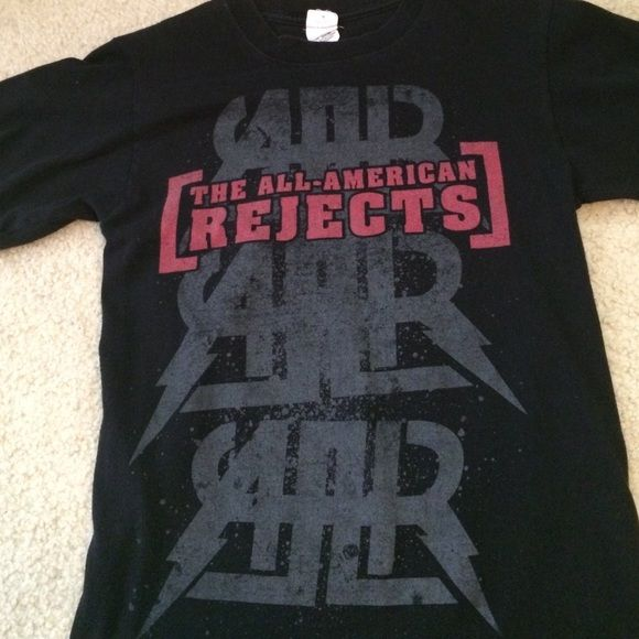 SALE All American Rejects concert tee AAR concert shirt from 2009. Pretty faded, graphics are a little cracked/faded. Still in good shape! Very comfortable and preshrunk. Size small, unisex. Not Hot Topic, just listed for exposure. Hot Topic Tops Tees - Short Sleeve