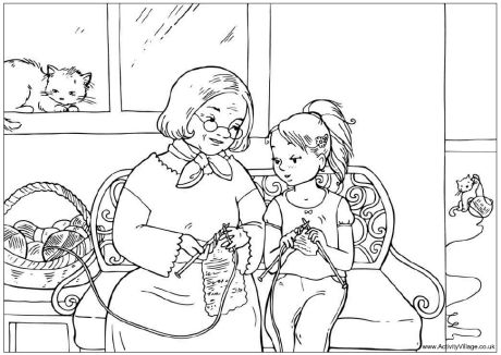 preschool family themed coloring pages - photo#9