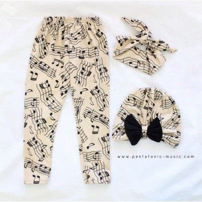 Music Notes Baby Set