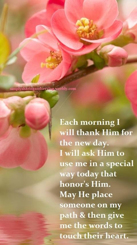 I Will Thank Him Each Morning...