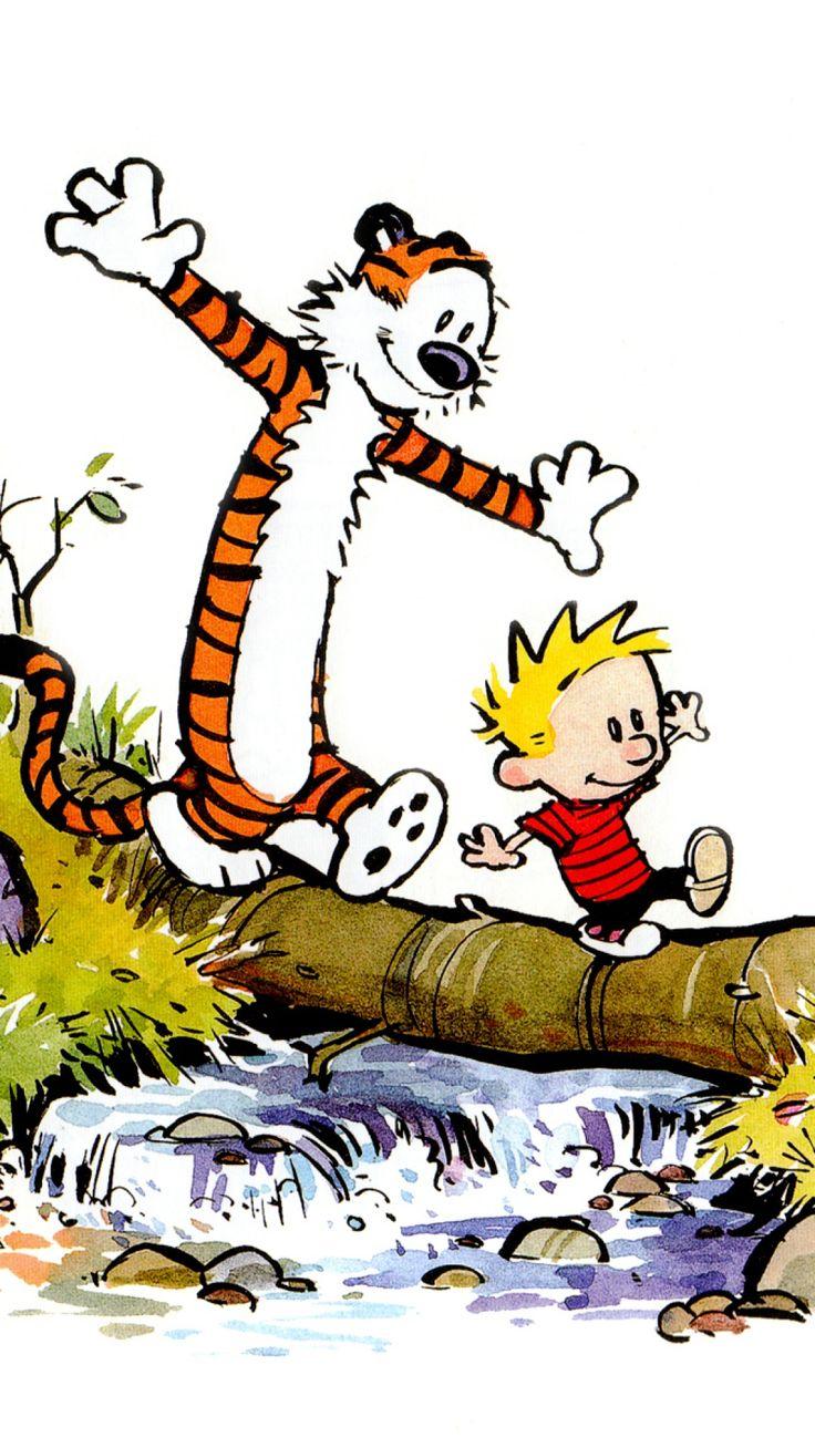 Calvin And Hobbes Samsung S4 wallpaper