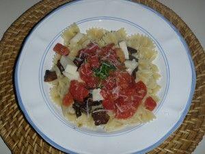 Dinner Idea: Bowties with Eggplant & Mushrooms