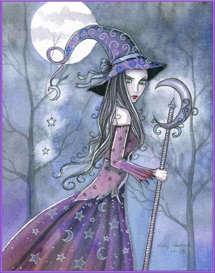 """""""Amethyst Witch"""" by Molly Harrison #illustration #art"""