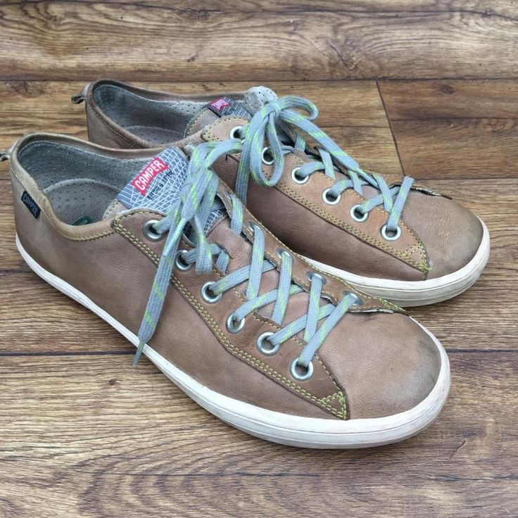 SIZE UK 8 CAMPER IMAR MENS LEATHER SAILING SHOES PLIMSOLLS CASUAL TRAINERS