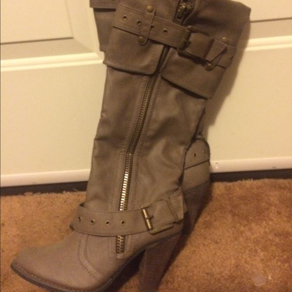 Not Rated Boots Super cute and brand new Not Rated Buckle boots. These boots have never been worn! Not Rated Shoes Heeled Boots