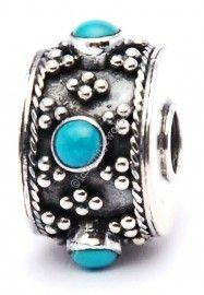 Bali turquoise maximum | Prachtige hanger aan Pandora ketting | Zilveren Bali bedels | Idhuna Jewels - Fashion sieraden