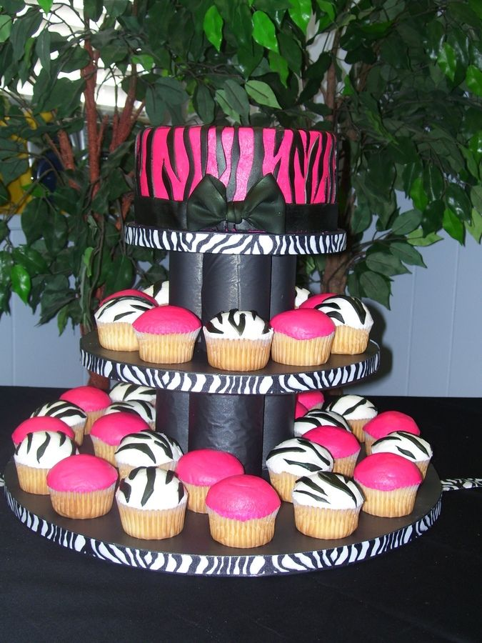 zebra cupcakes for baby shower | zebra baby shower bc icing on cake and cupcakes with mmf zebra stripes