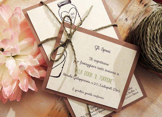 Matrimonio.it | #Partecipazione di #matrimonio fai da te in stile #shabbychic