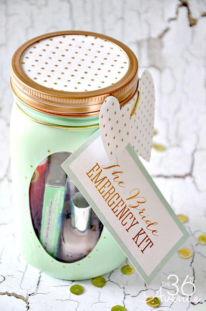 Mason Jar Crafts - Bride Emergency Kit