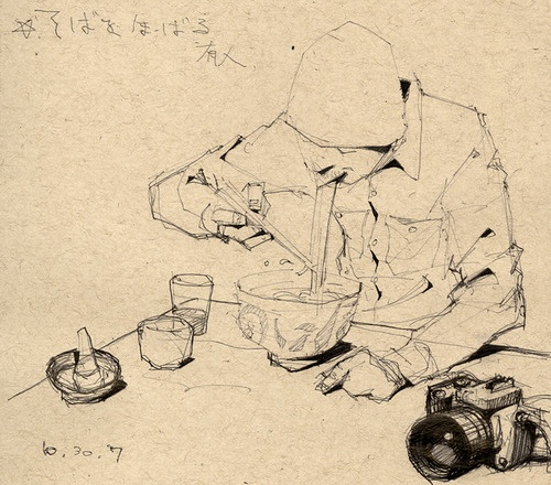 Soba sketch by Dice Tsutsumi
