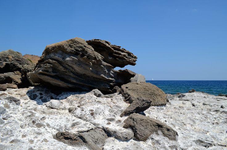 """""""Secret"""" rocky beach close to Klima, Aegina"""