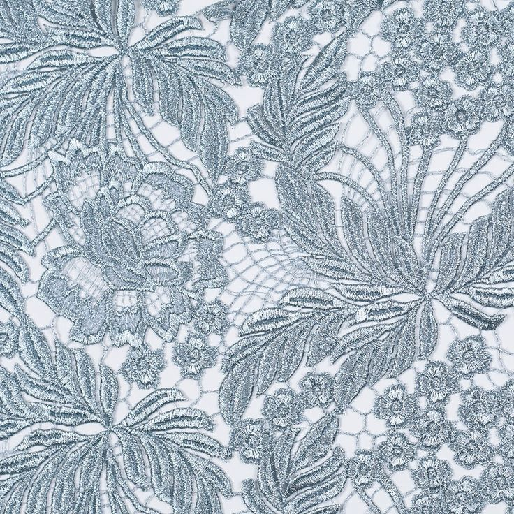 Exquisite Pearl Blue Floral Couture Guipure Lace Fabric - Lace - Other Fabrics - Fashion Fabrics