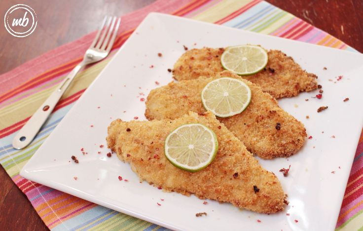 lime infused breaded chicken