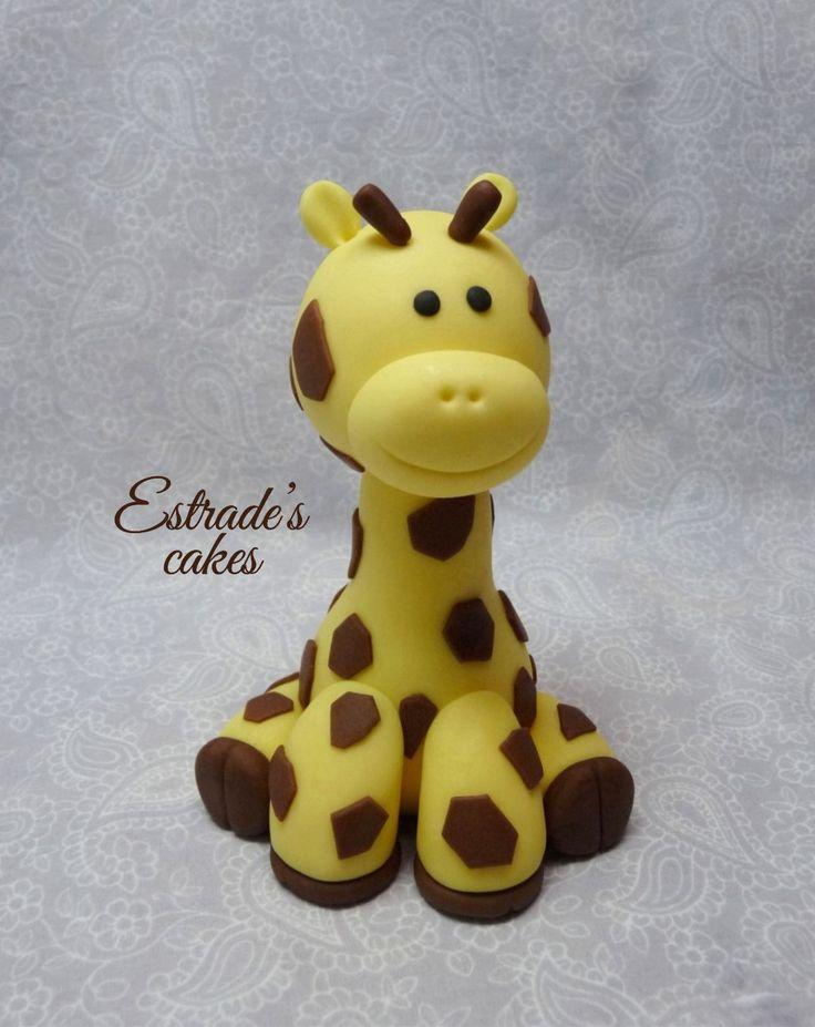 Estrade's cakes: jirafa modelada en azúcar