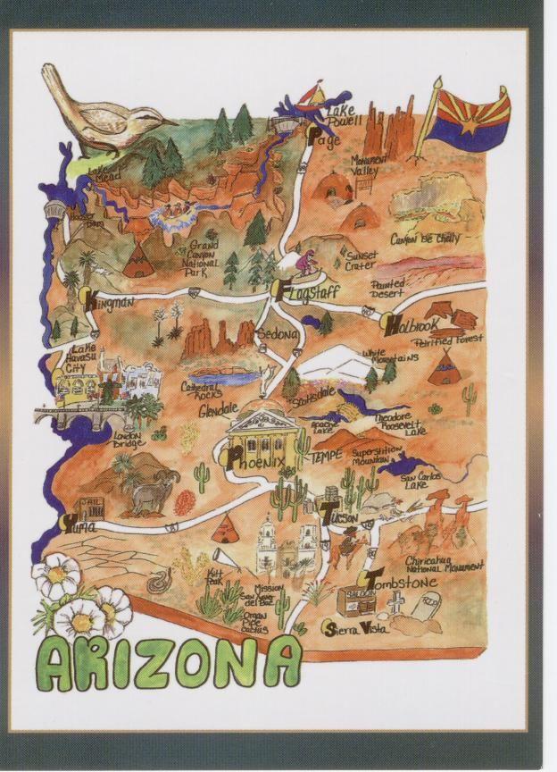 arizona-state-map-2_2517653782_o #Postcards #Collectables #Vintage on yuma az border map, fort yuma az on map, yuma az city map, yuma california, yuma county az parcel map, yuma county arizona,